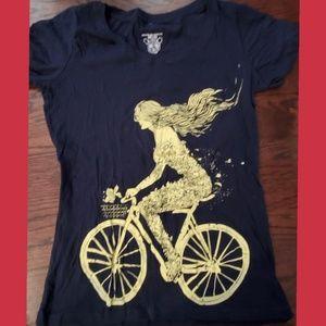Modcloth Girl on Bike tee Size XL